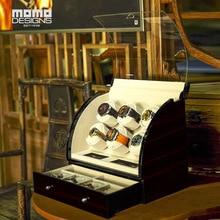 Классические часы Winder 6 автоматические часы катушечная моталка коробка деревянные часы витрина для хранения с ЖК-управлением для подарков на день рождения