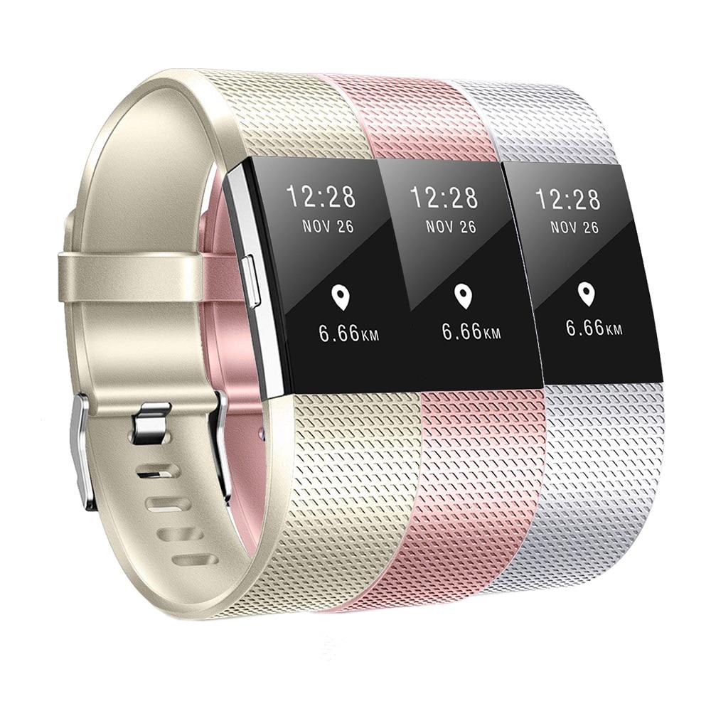 Baaletc Smartwatch Strap Bands For Fitbit Charge 2 Rose Rold / Silver Band For Fitbit Charge2 Smartwatch Bracelet Accessories