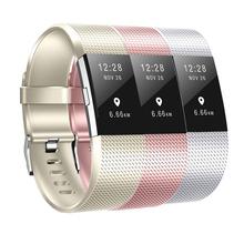 Baaletc Smartwatch pasek opaski dla Fitbit Charge 2 różany złoty srebrny zespół dla Fitbit Charge2 Smartwatch akcesoria do bransoletki tanie tanio Dorosłych Pasek na nadgarstek Uśpienia tracker Przypomnienie połączeń Inne Fit Fitbit Charge 2 Charge 2 band For fitbit charge 2 bracelet
