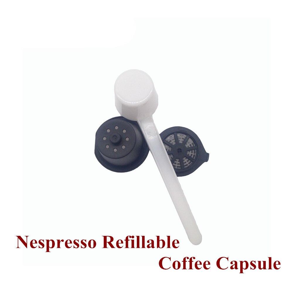 1 piece refillable nespresso capsules compatible with nespresso coffee machine refillable. Black Bedroom Furniture Sets. Home Design Ideas
