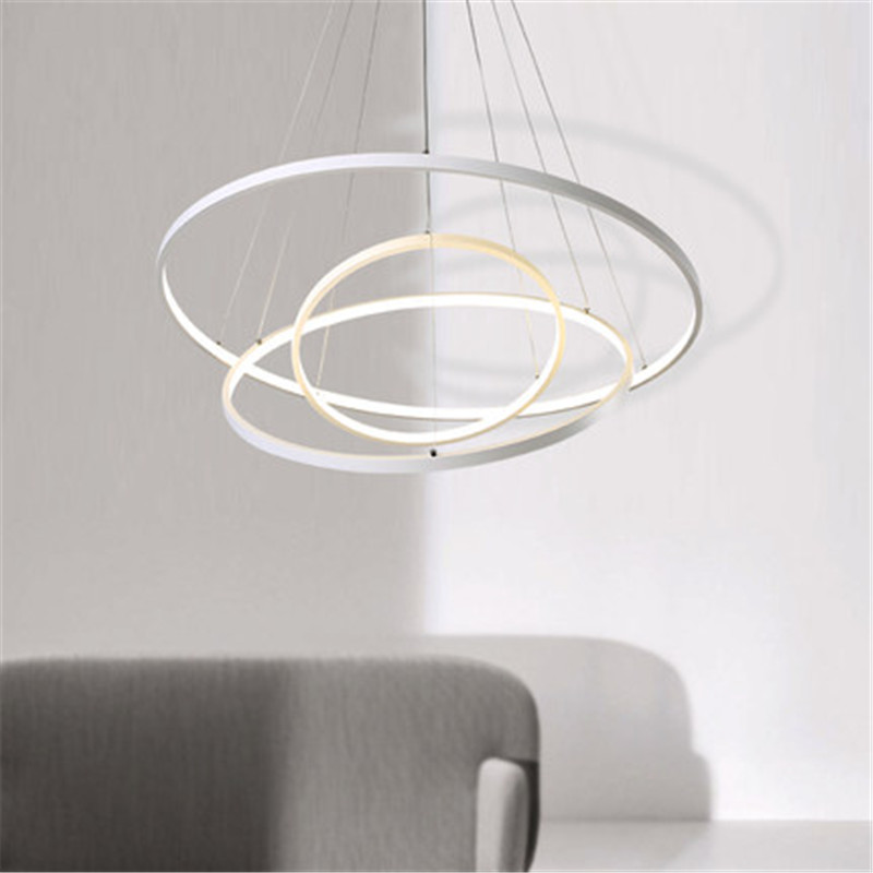 Creative Circle Ring Design Droplight Modern LED Pendant Lamp Fixtures For Living Dining Room Hanging Light Home Lighting