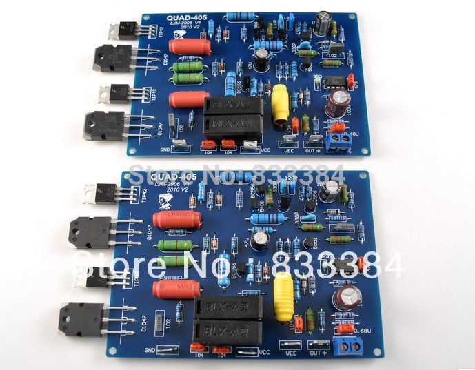 Assembled QUAD405 Audio Power Amplifier Board (include 2 channels) assembled tas5630 2 1 digital amplifier board 300w 150w 150w