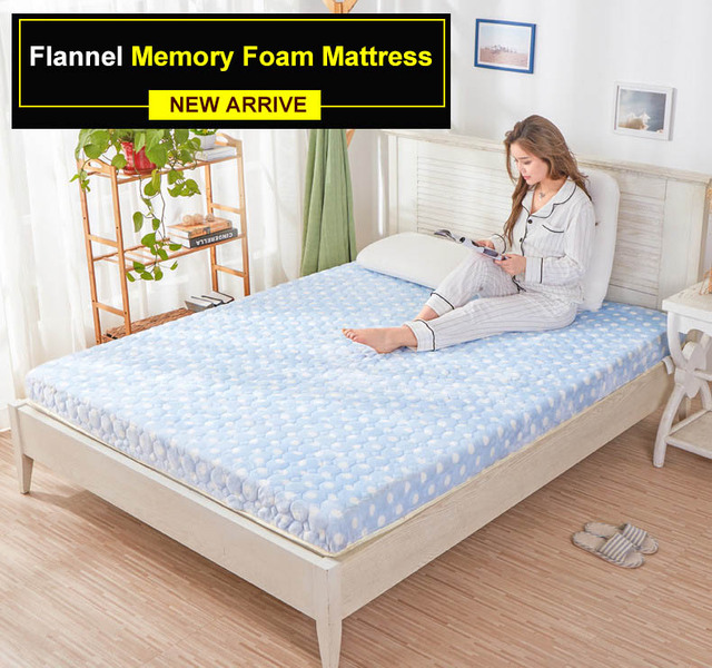 10cm Top Quality Memory Foam Velevt Mattress Thickness Upgrade Cotton Soft Hotel Tatami Sponge
