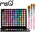 MSQ Профессиональный 88 Цветов Матовая Земное Жемчужный Металлик Цвет Полноцветный Eyeshaw Палитра Для Макияжа 3 Шт. Макияж Кисти