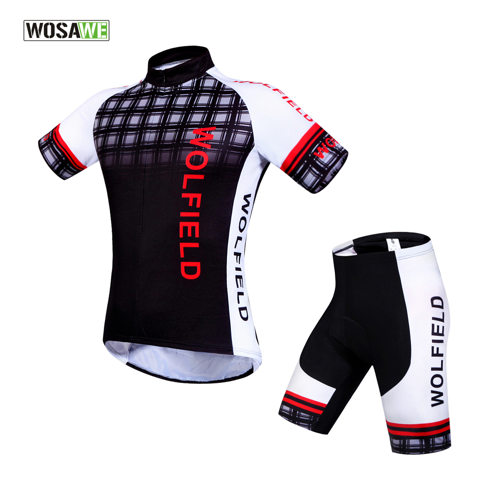 WOSAWE Pro Cycling Jerseys Cycling Pants Summer Breathable Racing Bicycle Clothing Quick-Dry Lycra GEL Pad MTB Bike  Sets cycling clothing rushed mtb mavic 2017 bike jerseys men for graffiti cycling polyester breathable bicycle new multicolor s 6xl