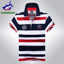 TACE   SHARK Marca Homem de Alta Qualidade Camisa Polo Homme Moda Casual  Tarja Bordados Camisas Tubarão Fino Polos Mens Roupas 2. c31aa36a06360