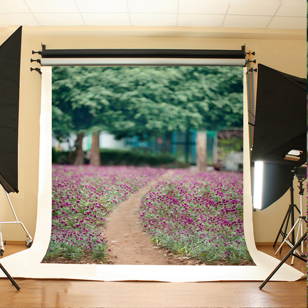 Wedding Photography Background Forest Road Flowers Photo Booth Backdrops Green Tree House Background for Photography Studio 200 300cm backgrounds for photo studio photography backdrops white green the open air terrace flowers tree for wedding