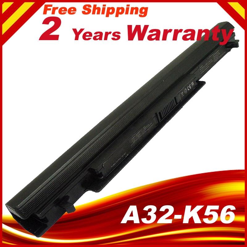 HSW New A41-K56 Battery for ASUS K46 K46C K46CA K46CM K56 K56CA K56CM S46C S56C A32-K56 A42-K56 14.8V 8cell аккумуляторная батарея для ноутбука asus k46 k46c k46cm k56 a32 k56 a41 k56
