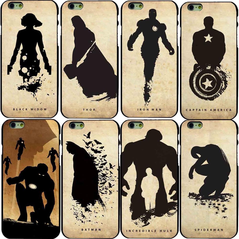 "Super Hero Batman <font><b>Black</b></font> <font><b>Widow</b></font> <font><b>Spider</b></font> <font><b>Man</b></font> Design Styles Hard Pc Case for Apple <font><b>iPhone</b></font> <font><b>6</b></font> 6s <font><b>4.7</b></font>"" Cover"