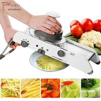 18 Types Multifunctional Manual Vegetable Cutter Shredders Mandolin Stainless Steel Slicer Carrot Grater Kitchen Accessories