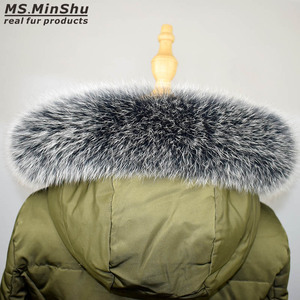 Image 4 - Fox Fur Collar Scarf Natural Fox Fur Collar for Hood 100% Real Fur Collar Scarf  Custom Made Winter Fur Scarf Ms.MinShu