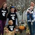 Halloween Family TShirts Mother And Daughter Dad Son Print T Shirts Family matching outfits Boo Letter Tops Tee 2017 New XX7056