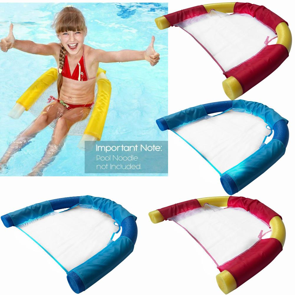 Floating Pool Noodle Board Sling Mesh Chair Net Swimming Seat Water Relax Toy
