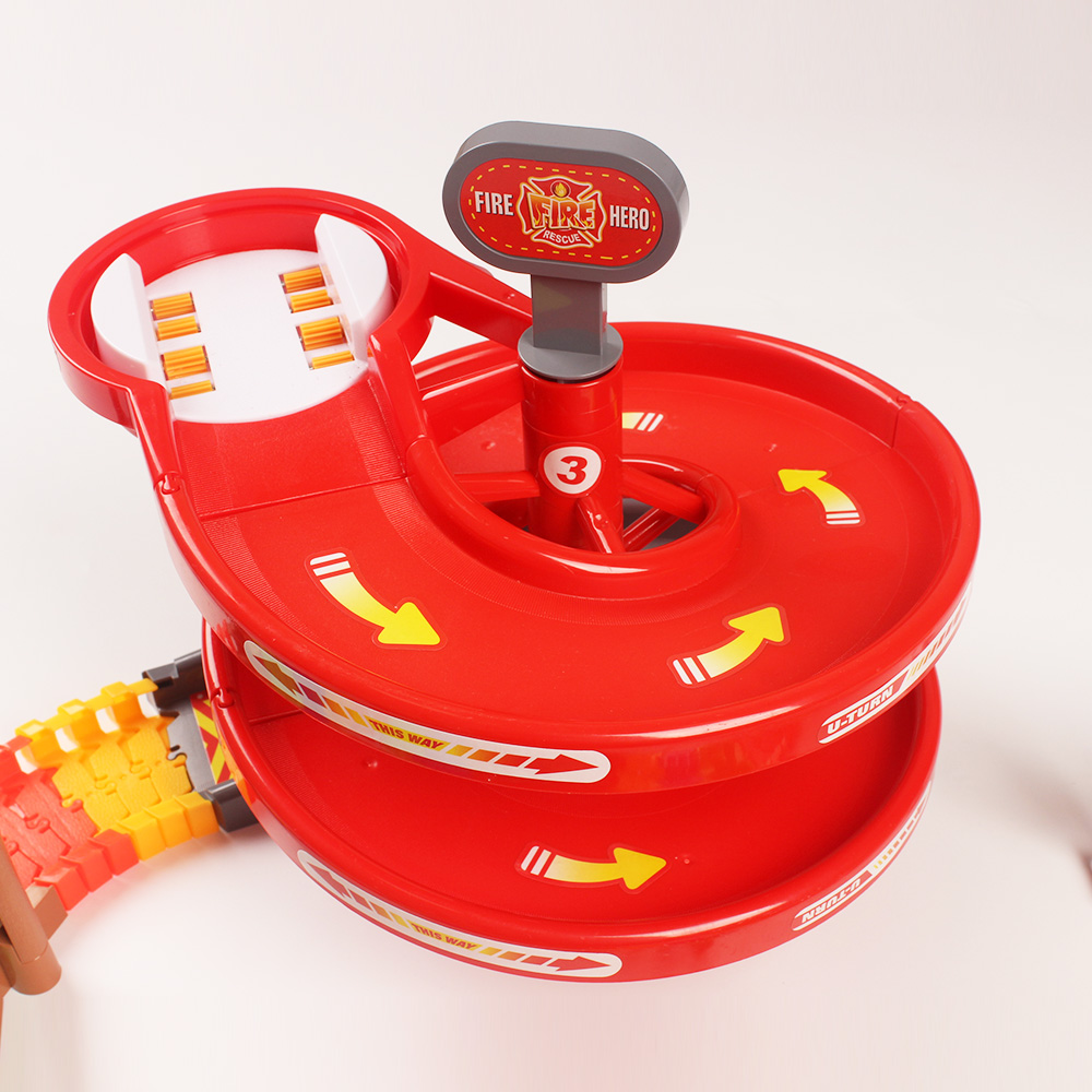 1pc Fire Police Rotary Turntable Plastic Turntables Assemble Toy Rail Car Model Toy DIY Funny Puzzle Toys Kids Boys Toys