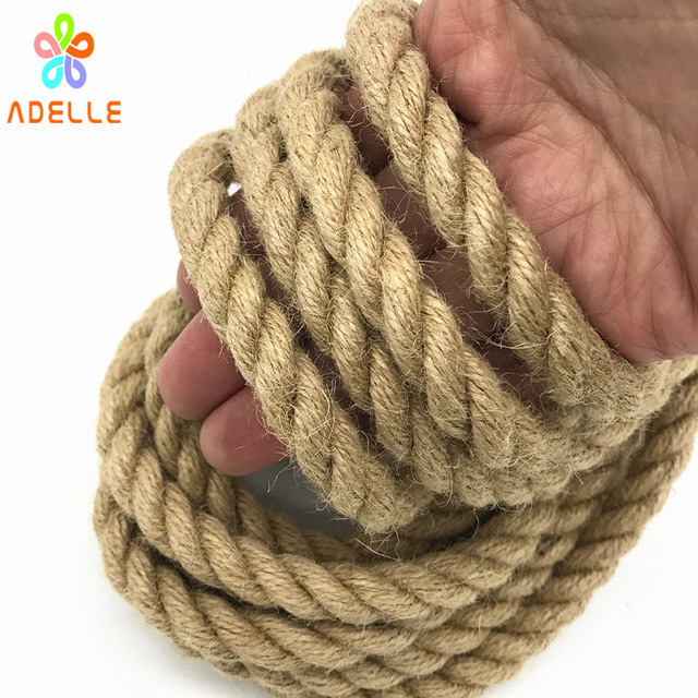 10mm x 10m Twisted Jute Twine rope Natural thick sex toys Japanese shibari  rope DIY accessory