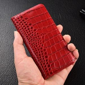 Image 2 - Krokodil Echtem Leder Fall Huawei honor 5a 5c 5x6 6a 6c 7 7a 7i 7x8 8c 8x9 9i 10 Plus Lite Pro ansicht max Flip Stand abdeckung