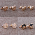 High quality New Mens Cufflink with Gold plated Copper Cufflinks with Black Enamel