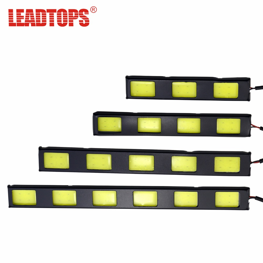 LEADTOPS Daytime Running Lights Ultra-thin LED Car High Power DRL DC 12V Super White 6000K DRL Fog Lamps BJ for renault megane 2 saloon lm0 lm1 2003 2015 car styling 6000k white 10w ccc high power led fog lamps drl lights