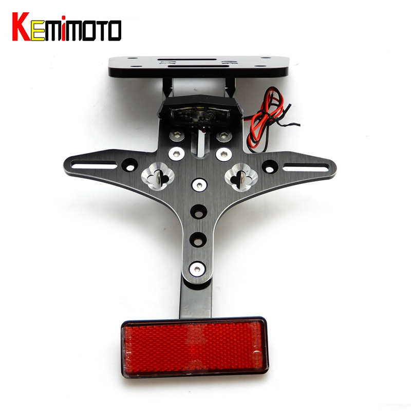 KEMiMOTO R3 R25 License Plate Bracket Fender Eliminator LED For YAMAHA YZF-R25 YZF-R3 2014-2017 2016 Kit License Plate Holder
