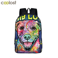 Cartoon Dog Backpack For Teenage Pet German Shepherd Rottweiler Children School Bags Grumpy Cat Boy Girl