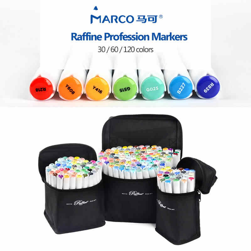 Marco Raffine 30 60 120 Colors Alcohol Based Professional
