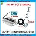 Display LCD!!! novos Mini 4G LTE DCS 1800 Mhz Mobile Phone Signal Booster, DCS Repetidor de Sinal Amplificador + Cabo de Antena Yagi