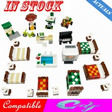 Creator City Bed Sofa Piano Computer Desk Car Station Scenes Figures Building Block MOC Accessories Parts Toy For Kid Cities Kit(China)