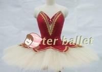 Красное вино ту балетное платье для выступления четыре свист Лебеди четыре маленький лебедь купальник