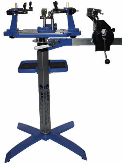 The AEF 7500 Bracket Manual Racquet String Machine For Badminton And Tennis Racket With String Tools Ranging From 9lb To 88 lb