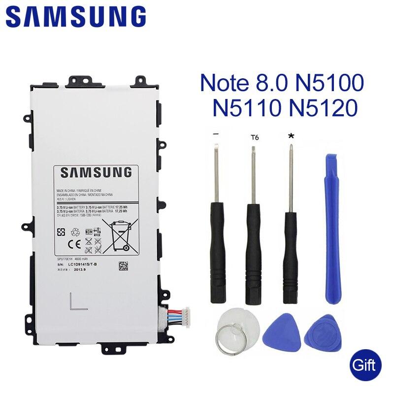 SAMSUNG tablette batterie SP3770E1H pour Samsung Galaxy Note 8.0 N5100 N5110 N5120 batterie de remplacement 4600 mAhSAMSUNG tablette batterie SP3770E1H pour Samsung Galaxy Note 8.0 N5100 N5110 N5120 batterie de remplacement 4600 mAh