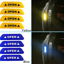 4pcs Car Door Sticker Decal Warning Tape Car Reflective Stickers Reflective Strips Car-styling 5 Colors Safety Mark Car Stickers car vehicle safety reflective stickers green size l pair