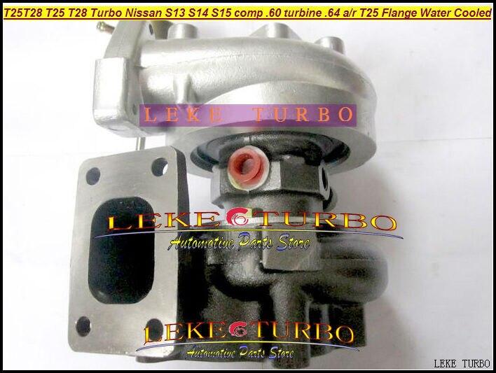 Wholesale T25 T28 T25T28 T25/28 Turbo TurboCharger For Nissan Engine S13 S14 S15 comp .60 Turbine .64 AR T25 Flange Water Cooled free ship turbo rhf5 8973737771 897373 7771 turbo turbine turbocharger for isuzu d max d max h warner 4ja1t 4ja1 t 4ja1 t engine