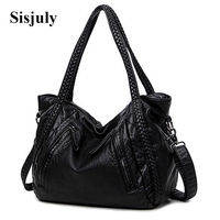 Sisjuly High Quality Soft PU Leather Top Handle Bag Fashion Women Messenger Bag Larger Shoulder Bag