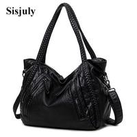 Sisjuly High Quality Soft PU Leather Top Handle Bag Fashion Women Messenger Bag Larger Shoulder Bag
