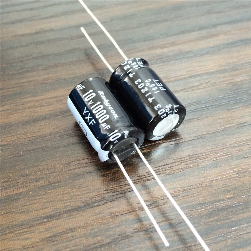 10pcs 1000uF 10V Rubycon YXF Series 10x16mm Low Impedance Long Life 10V1000uF Aluminum Electrolytic Capacitor