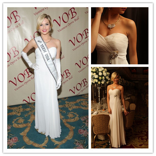 Cassidy Wolf Miss Teen USA long mermaid white prom dress 2014 ...