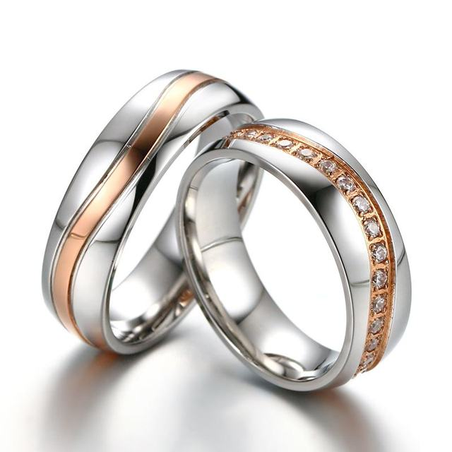 Wave Line Alliance Couple Anniversary Ring