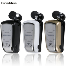 Fineblue NEW Style FQ208 Mini Earphone Stereo Bluetooth Wireless Clip earphones For IOS Android Phone No Vibration