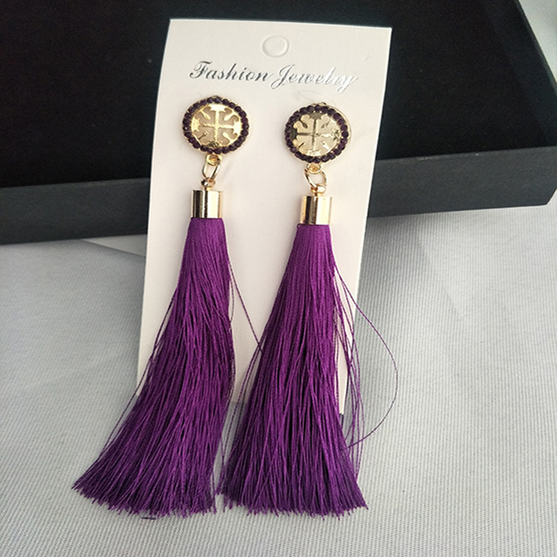 Persevering 4 Colors Choose Gold Color Cloth Flower Long Ear Wire Tassel Simulated Pearl Earrings For Girls Party Cute Jewelry Korea Style Jewelry & Accessories