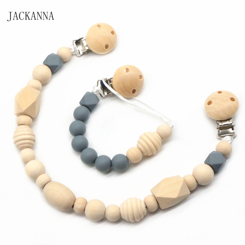 Handmade Pacifier Holder Chain Baby Dummy Clips Diy Baby Pacifier Clips Newborn Kids Shower Gifts Bpa Free