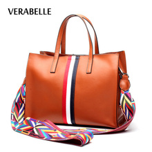 VERABELLE 2017 high quality embroidery straps cowhide vintage split leather shoulder women totes crossbody handbag female bag
