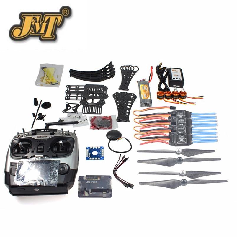 JMT FAI DA TE RC Drone Quadrocopter RTF X4M360L Kit Telaio con il GPS APM 2.8 AT9S Trasmettitore RXJMT FAI DA TE RC Drone Quadrocopter RTF X4M360L Kit Telaio con il GPS APM 2.8 AT9S Trasmettitore RX