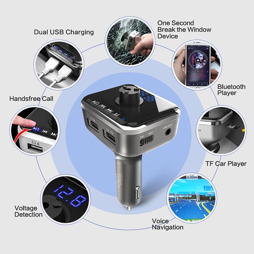 Reproductor de música del coche Coche MP3 Altavoz Bluetooth - Electrónica del Automóvil - foto 3