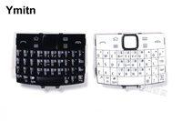 שחור/לבן 100% חדש Ymitn כיסוי שיכון לוחות מקשים מקלדות אנגלית ורוסית & ערבית עבור Nokia e6 e6 00 e600-בלוחות מקשים לטלפון נייד מתוך טלפונים סלולריים ותקשורת באתר