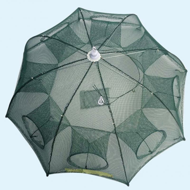 Neue Faltbare Tragbare Hexagon 4/6/8 Löcher Automatische Angeln Garnelen Trap Fischernetz Fisch Garnelen Minnow Krabben köder Guss Mesh Falle