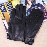 New Style Sheepskin Gloves Men'S Autumn And Winter Warm Real Leather Gloves Full Touch Screen Thin Section Driving TM27001 5