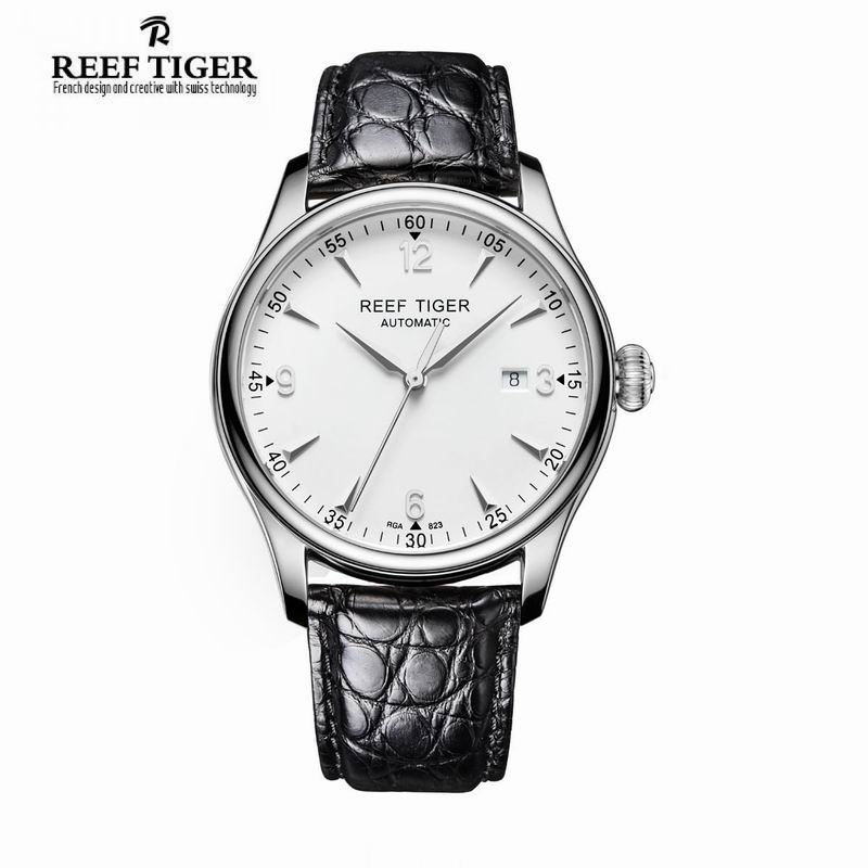Luxury Brand For Men Business Reef Tiger Classic Heritage Dress Watch Stainless