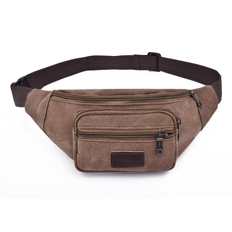 Fashion Men's Waist Bag Sports Zipper Canvas Fanny Pack Outdoor Heuptas Casual Chest Bag