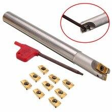 1 шт. 150 мм хвостовик токарный станок токарный инструмент держатель 300R C14-14-150 сверлильный брусок+ 10 шт. APMT1135PDER вставки с T8 гаечным ключом