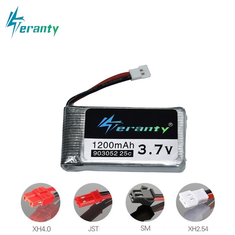 3.7V 1200mAh 25C Lipo Battery for Syma X5 X5C X5SW X5SC X5S X5SC-1 M18 H5P RC Quadcopter 1200mAh 903052 3.7V battery for SYMA(China)